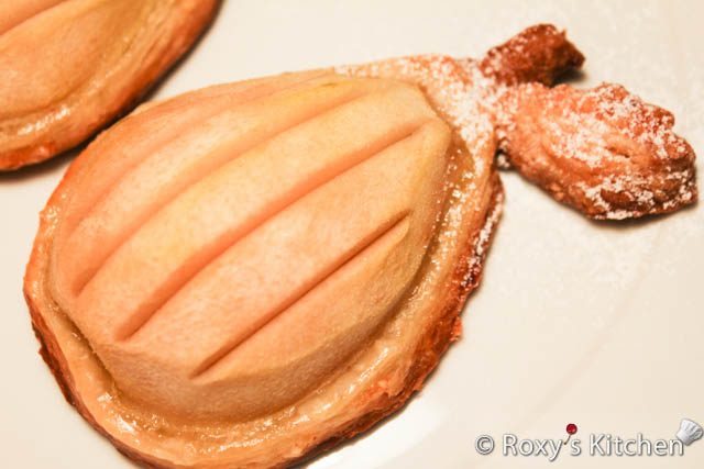 Baked Pears on Puff Pastry