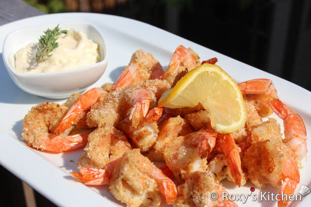Oven-Fried Shrimp with Aioli - Roxy's Kitchen