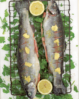 Crispy Grilled Trout with Parsley and Lemon